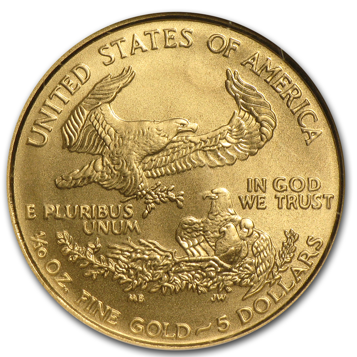 2007-W 1/10 oz Burnished Gold American Eagle MS-69 NGC (ER)
